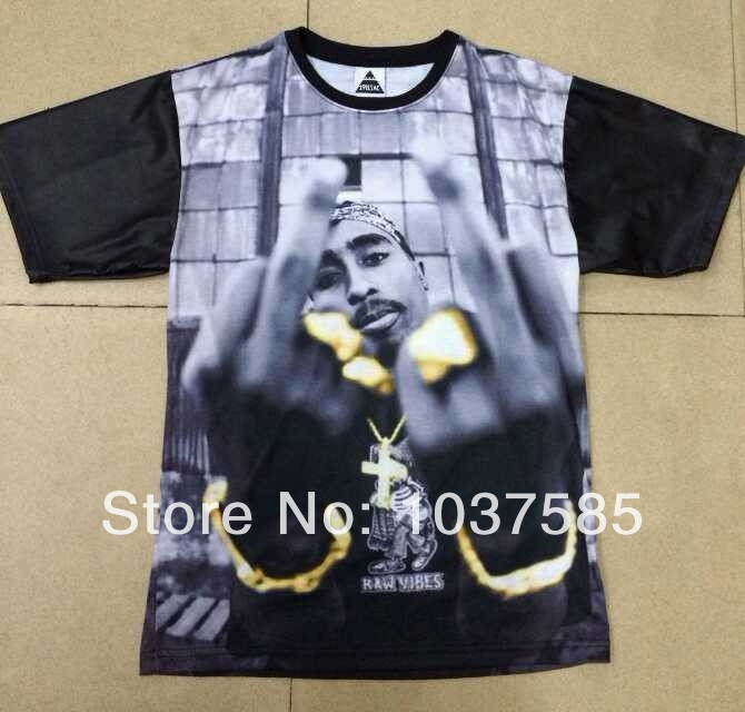 new 2014 1991 inc streetwear hiphop clothes slim fit skateboard kanye west 2pac cool leather sleeve shirt 3d graphic tees tupac-in T-Shirts from Apparel & Accessories on Aliexpress.com