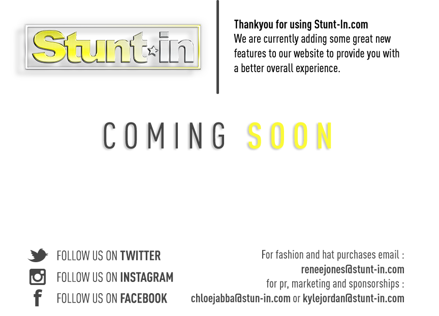 Stunt-In - New Website Coming Soon