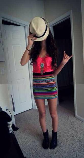skirt aztec aztec print skirt tribal pattern tribal print skirt striped skirt dress