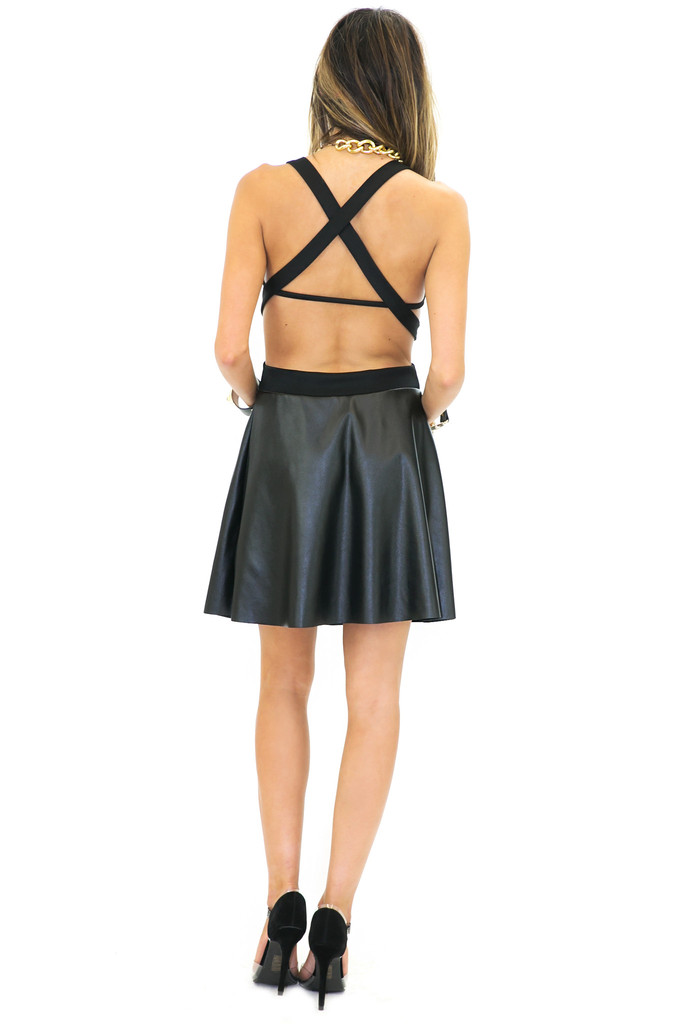 CHELLA CUTOUT CONTRAST DRESS | Haute & Rebellious