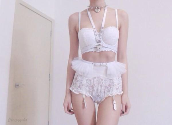 underwear white pastel undie