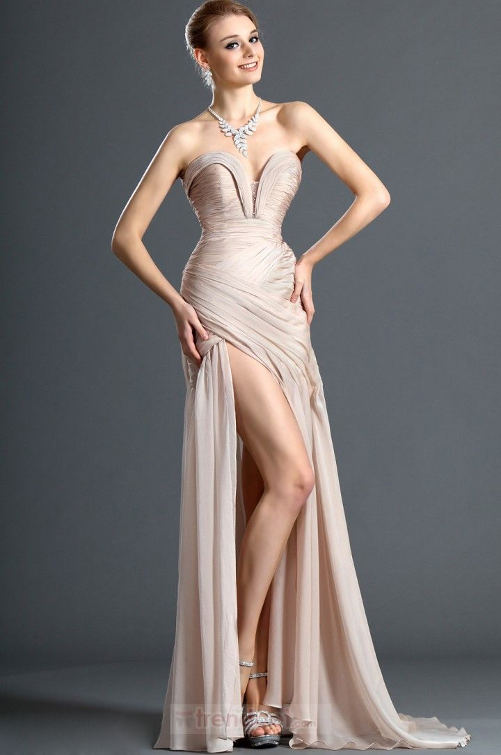 Sexy Sheath / Column Sweetheart Asymmetrical Chiffon Colored Prom Dresses $126.99 - Trendget.com