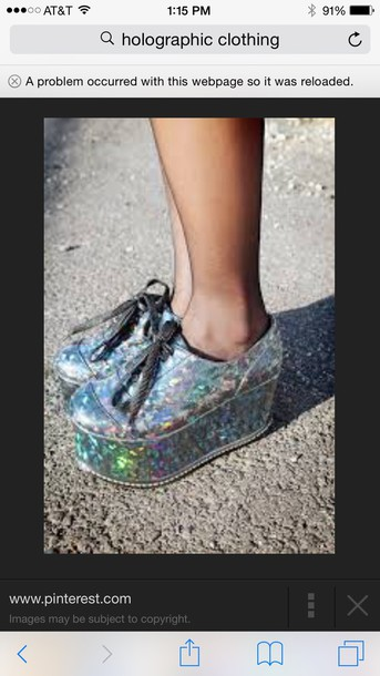 shoes holographic