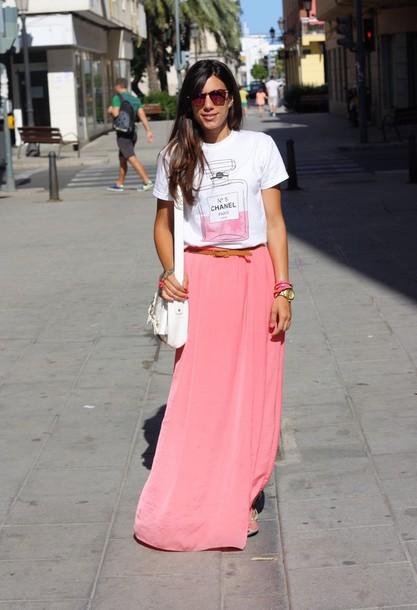 shirt chanel t-shirt pink perfume water bottle chanel