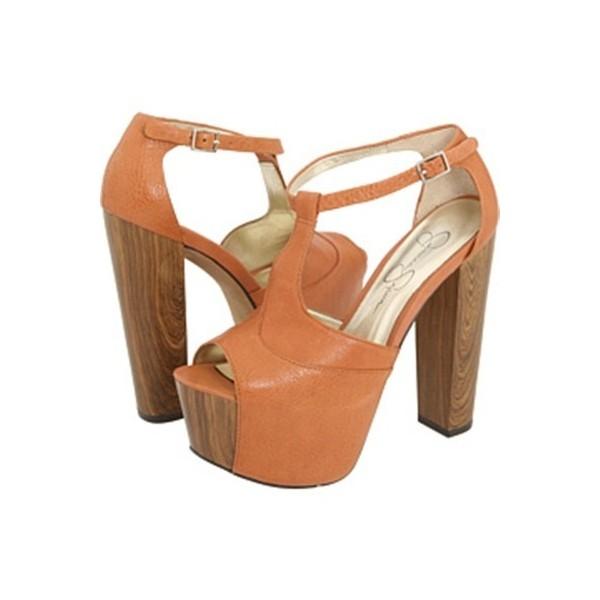 Jessica Simpson Dany Platform Shoes Tan Size 8 - Polyvore