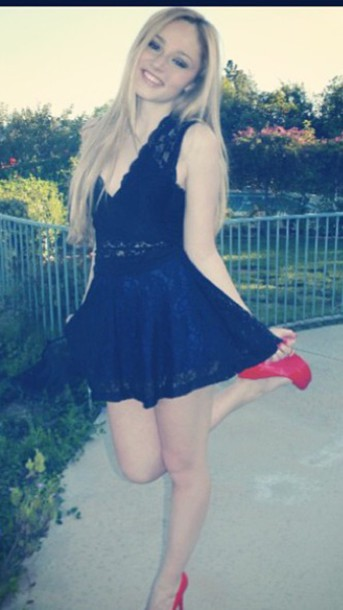 dress short black dress