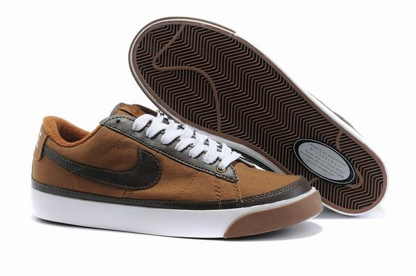 Nike Blazers Low Mens Vintage Suede Trainers Light Chocolate Brown