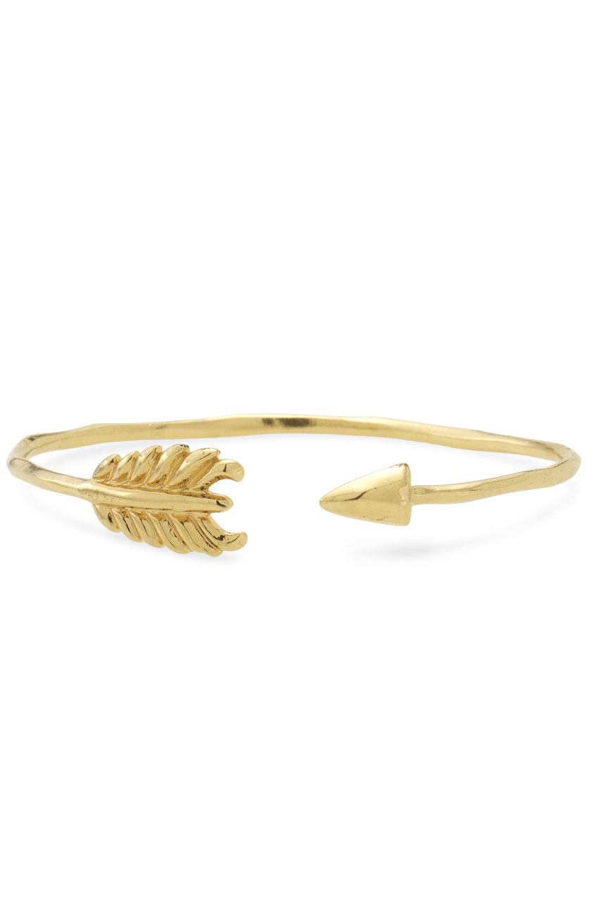 Thin Gold Arrow Bangle Bracelet | Gilded Arrow Bangle | Stella & Dot