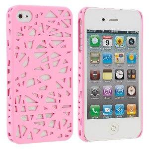 Light Pink Birds Nest Snap-On Hard Back Cover Case for Apple iPhone 4 4G 4S: Amazon.co.uk: Electronics