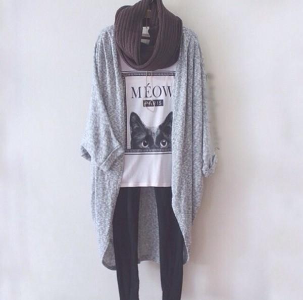 coat knitted cardigan black and white cardigan fashionista fashionable cardigan shirt top jewels