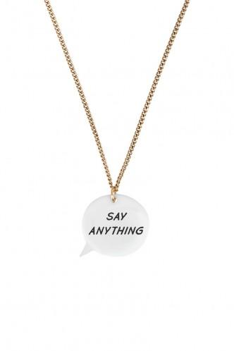 Speech Bubble Necklace