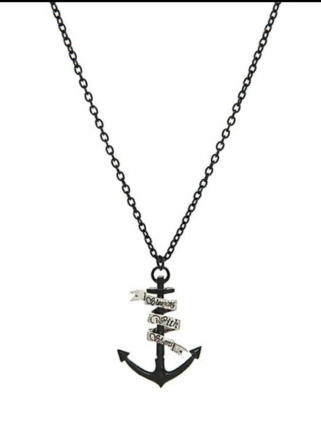 sleeping with sirens band merch anchor necklace