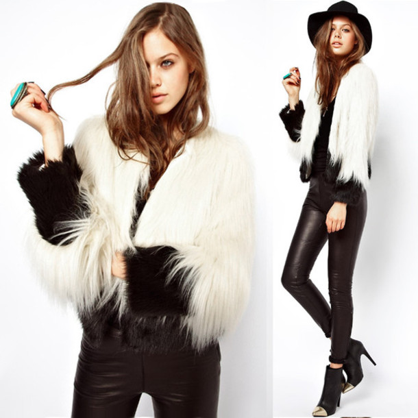 coat outerwear faux fur jacket faux fur