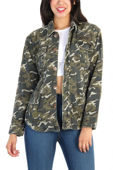 LoveMelrose.com From Harry & Molly | Military Camo Jacket