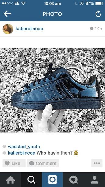 shoes adidas originals all black silk