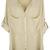 ROMWE | ROMWE Asymmetric V-neck Pocketed Apricot Chiffon Shirt, The Latest Street Fashion