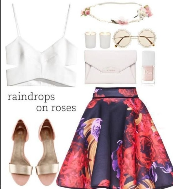 tank top white skirt spring outfits