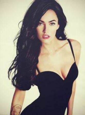 megan fox brunette corset dress black dress transformers