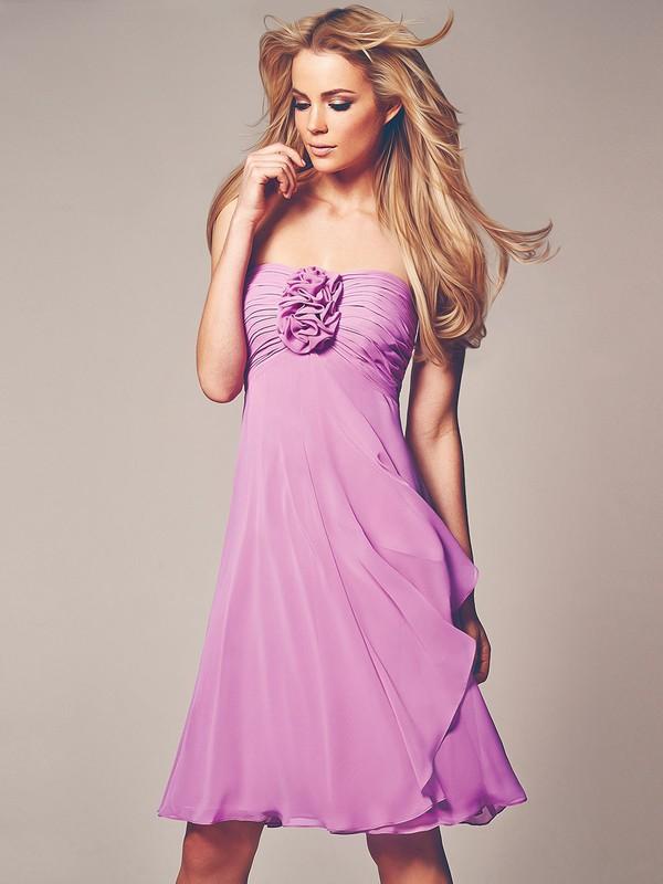 dress corsage detail bandeau dress