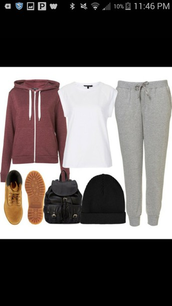 jacket t-shirt sweats shoes dress