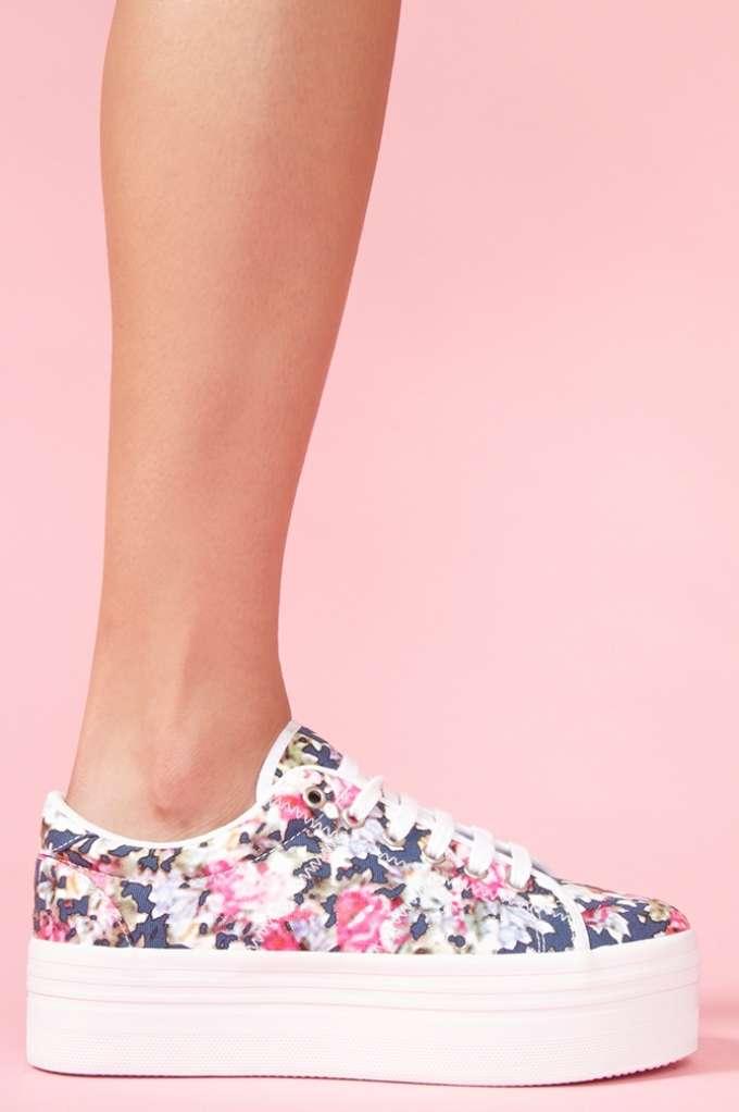 Zomg Platform Sneaker - Floral in  Shoes at Nasty Gal