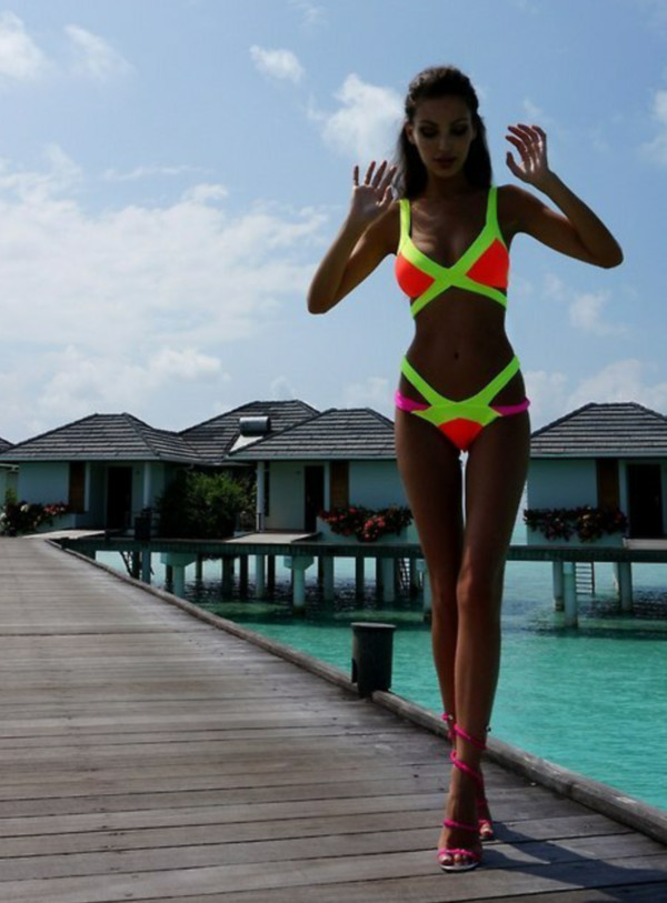 swimwear hot bikini sexy bikini sexy bikini neon bikini beach yacht boat beach party monokini