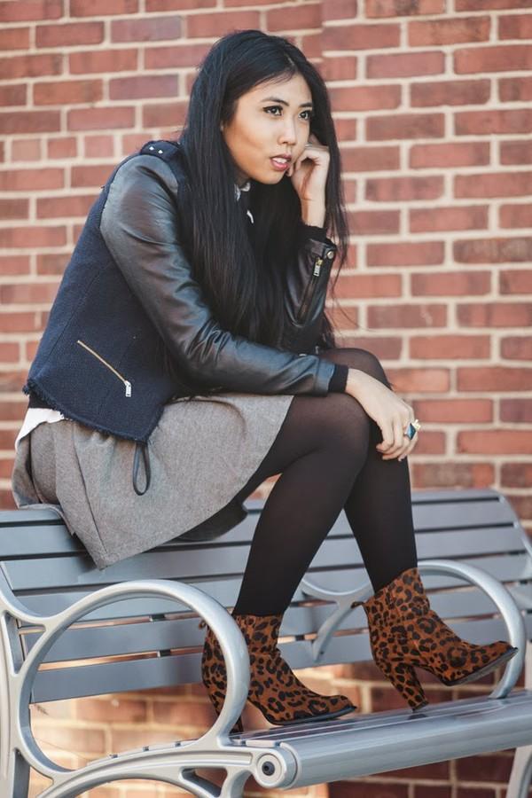fashion of a novice skirt jacket shoes bag