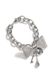 Amazon.com: Guess Silver-tone Mesh Bow Bracelet: Jewelry
