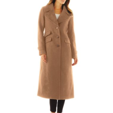 Worthington® Wool-Blend Classic Long Tailored Coat - Talls - JCPenney