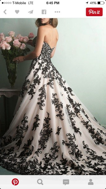 dress wedding prom black