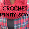 Chunky infinity scarf wine red