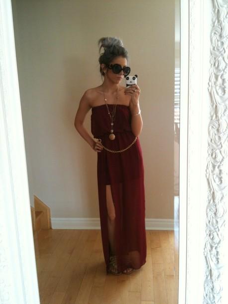 dress red dress maxi dress