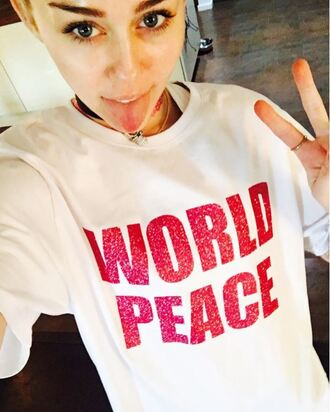 t-shirt top miley cyrus instagram