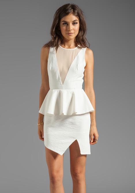 KEEPSAKE First in Line Dress in Ivory/Nude - Dresses