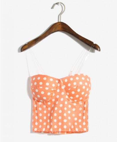 White Dots Cotton Tube Top - T-shirts & Tanks - Tops - Clothing