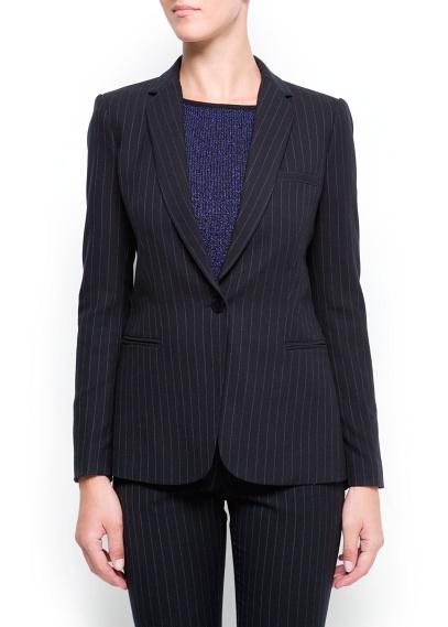 MANGO - NEW - Pin-striped blazer