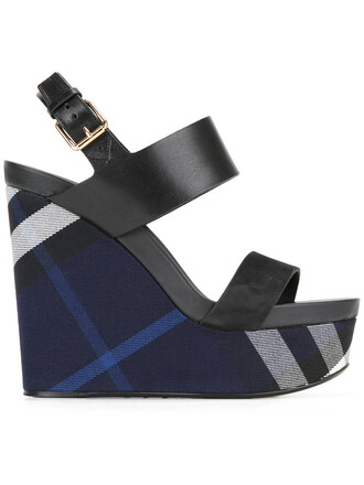 women sandals wedge sandals leather blue shoes