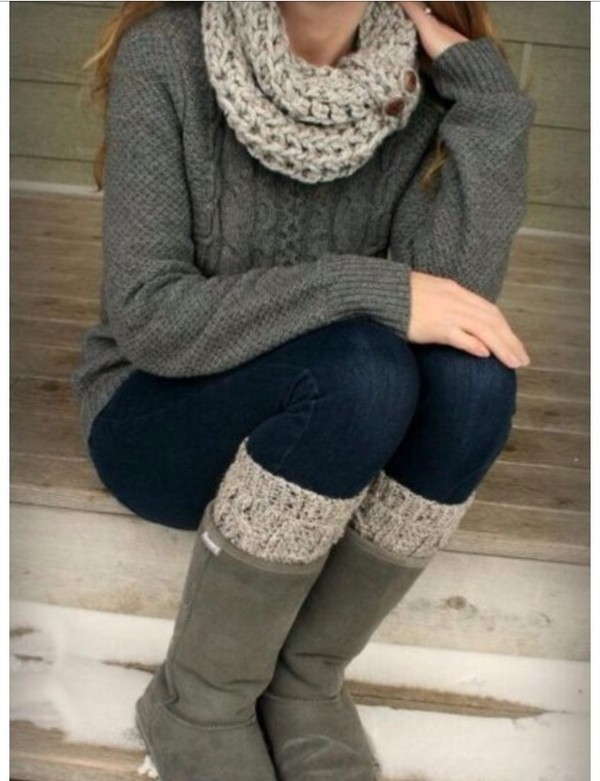 sweater fall outfits winter outfits scarf jeggings jeans