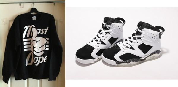 sweater dope jordans oreos shoes