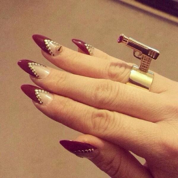 jewels jewelry ring gun nail polish