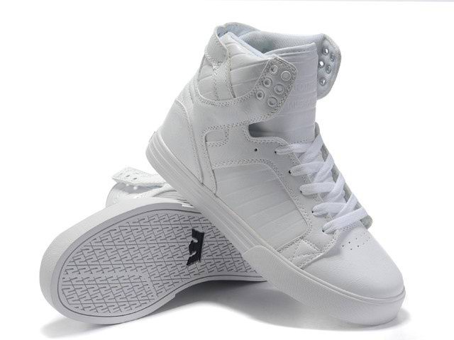 Authentic Supra Chad Muska Skytop High Top Womens All White For Sale-Buy Cheap Real Womens Supra Skytop Shoes