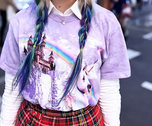 sweater japanese unicorn pastel