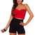Trendy Sexy V Neck Strapless Bustier Front Bow Fashionable Crop Midriff Top | eBay