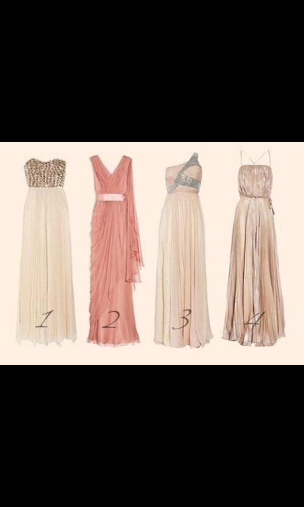 dress maxi dress studs studded cream prom dress gold chiffon