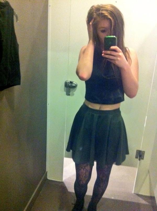skirt cotton on skirt green