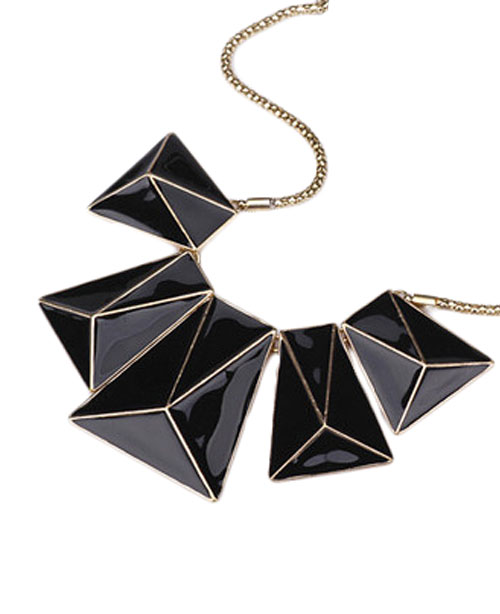 Gold-plated Black Glaze Necklace | BlackFive