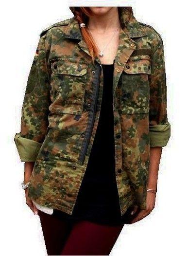 ✪ Vintage Women's F2 Camo Jacket Coat Surplus Army Military Retro Urban Ladies ✪ | eBay