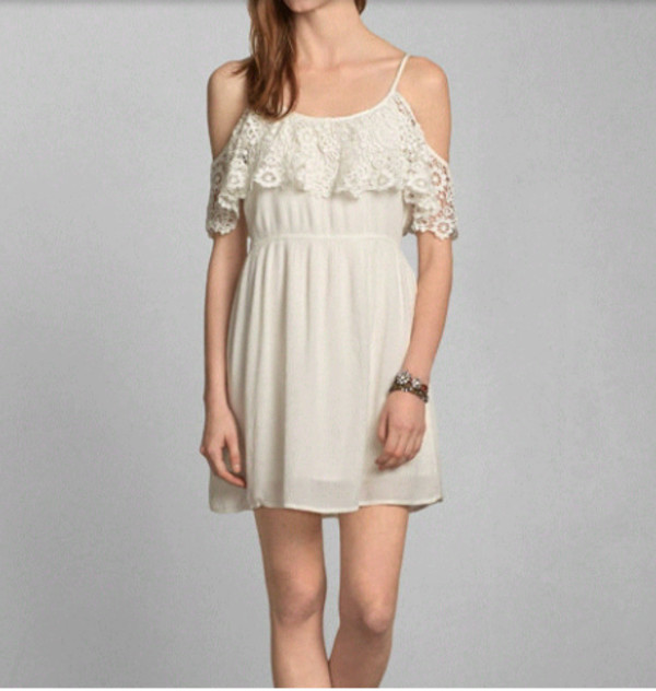 dress cute girly white dress white floral flowers flowers vintage rose roses lace dress lace