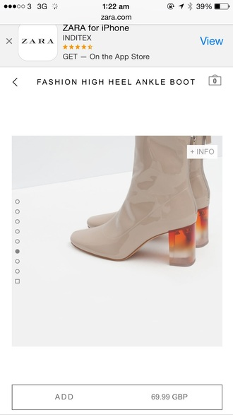 shoes ankle boots high heels nude leather shoes leather boots clear heels sexy shoes nude shoes patent shoes mid heel boots fall accessories