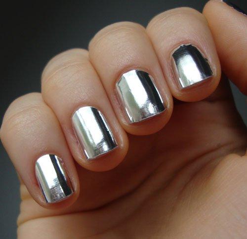 Fancy - Metallic Silver Nail Foil Wraps